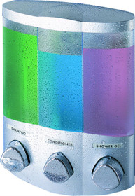 Better Living 76334-1 Euro TRIO Dispenser, Translucent Container, Satin Silver