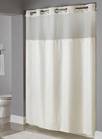 Hookless Fabric Shower Curtain, Dobby Stripe, 71x77, 12 Per Case, Price Per Each