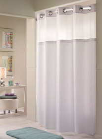 Hookless Fabric Shower Curtain, Double H, 12 Per Case, Price Per Each