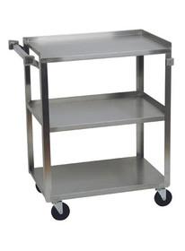 3 Shelf Service Cart, 300 lb Capacity