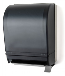 Provides an excellent value in roll towel dispensing, Impact resistant plastic back