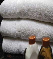 Oxford Silver Merlin Hand Towel 16x27, 3 lb. 86% Cotton 14% Polyester,  White, 1 dozen