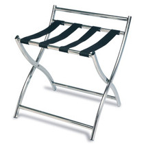 Luxury Metal Luggage Rack, Stainless Steel, Black Straps, Price Per Each, 3 Per Case