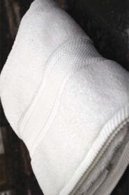 Oxford Miasma Bath Towel 27x54, 15.5 lb. 100% Cotton, Dobby Border, White, 1 dozen