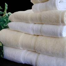 Oxford Miasma Bath Towel 30x56, 16.7 lb. 100% Cotton, Dobby Border, White, 1 dozen