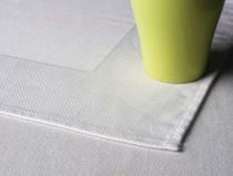 Oxford Birds Eye Banquet Tablecloth, 54 x 54, 100% Egyptian Cotton, White, 50 Per Case, Price Per Each