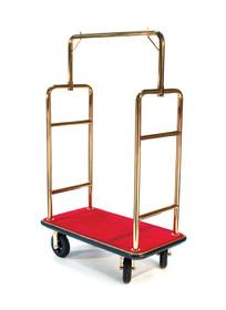 "Deluxe Bellman Cart 1-1/2"" Tube, Titanium Gold, Squared Top"