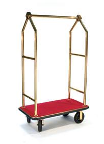 "Deluxe Bellman Cart 1-1/2"" Tube, Titanium Gold, Angled Top"