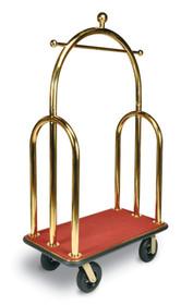 "Deluxe Heavy Duty Bellman Cart 2"" Tube, Trident Style, Titanium Gold"