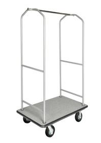 Economy Bellman Cart, Silver Metallic, Gray Carpet