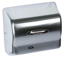 American Dryer AD90-SS Advantage Hand Dryer, Stainless Steel