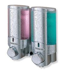 Better Living 76235 AVIVA II Shower Dispenser, Translucent Bottles, Satin Silver