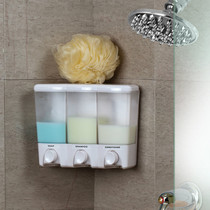 Better Living 72350 Clear Choice III Shower Dispenser, 3 Chambers, Translucent Bottles, White