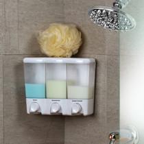 Better Living 72350 Clear Choice III Shower Dispenser, 3 Chambers, Translucent Bottles, White