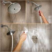 Rinse Ace® Rainfall 2-in-1 Showerhead, 75 Spray Jets, Satin Nickel