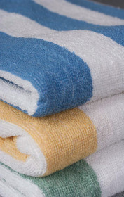 Oxford Cabana Stripe Pool Towel 30 x 60, 100% Cotton, 9 lb., 1 dozen