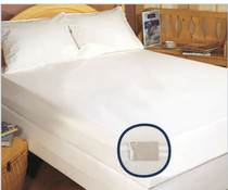 """Stretch Knit Polyester, Full 54x75x9, Zippered Mattress/Boxspring Cover w/ Bugstop® Seal, 9"""" Deep, 6 Per Case Price Per Each"""
