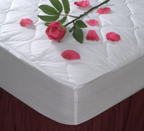 """Comfort Choice Deluxe Quilted Mattress Pad, King 78x80, Fitted 12"""" Elastic Skirt, 8 Per Case, Price Per Each"""