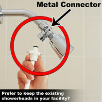 Rinse Ace Metal Shower Connector, Chrome