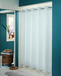 Hookless Plainweave Fabric Shower Curtain, 12 Per Case, Price Per Each