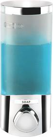 Better Living 76144 Euro Uno Dispenser, Translucent Container, Chrome