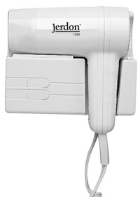Jerdon JWM5CF Wall Mount Hair Dryer - Plug In