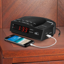 Conair WCR14 Alarm Clock Radio with USB Charging Port