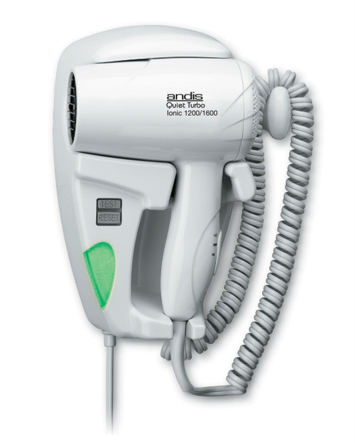 Andis 30975 HD-10L Quiet Ionic Multi-Wattage Hang Up Hair Dryer 1600/1200 with LED Night Light - Plug In
