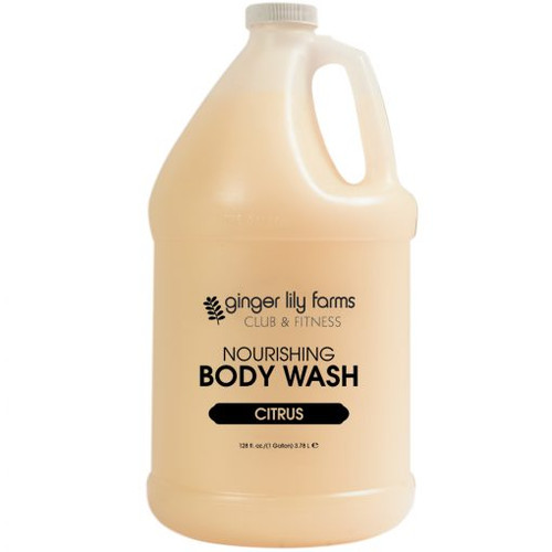 Ginger Lily Farms Club and Fitness Formula Citrus Body Wash Gallon - Case of 4