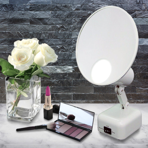Floxite FL-615-2 LED 15x Magnification SuperVision Lighted Tabletop Makeup  Mirror