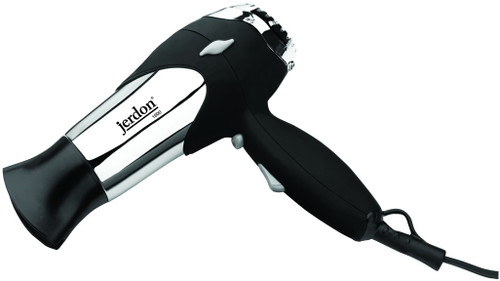 Jerdon JHD63 1600W Cool Shot Turbo Hair Dryer with Wall Caddy