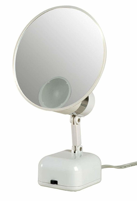 Floxite FL-510-2 10x Magnifying 5-inch Mirror LED Light, Frosted White