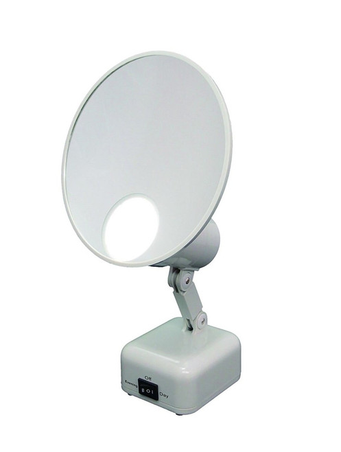 Floxite FL-615-2 LED 15x Magnification SuperVision Lighted Tabletop Mirror, OPEN BOX