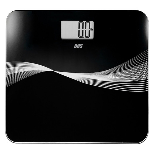 Optima Robust RO-440 High Capacity Digital Bathroom Scale, 440 lb Capacity, Low Profile, Tempered Glass, Auto On/Off