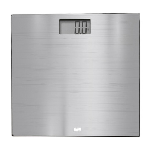 Optima Structure ST-400 Bathroom Scale, 400 lb Capacity, Stainless Steel, Auto On/Off