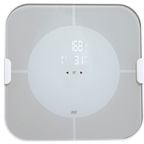 Optima Vitalize VI-400-BT Bluetooth BMI Body Fat Scale with iOS and Android App, Auto On/Off