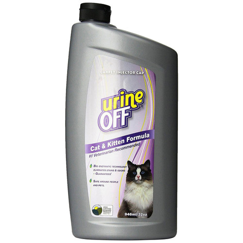 Urine Off Cat & Kitten Formula, Cat Urine Remover, 32 oz, Enzymatic Cleaner for Cat Urine