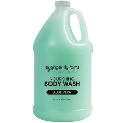 Ginger Lily Farms Club and Fitness Formula Aloe Vera Body Wash Gallon