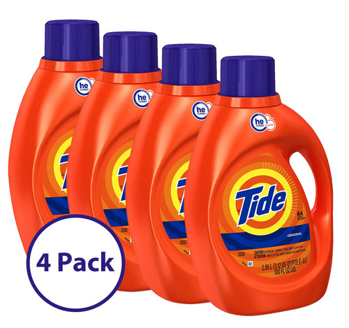 Tide  HE Liquid Laundry Detergent, 100 oz, Case of 4