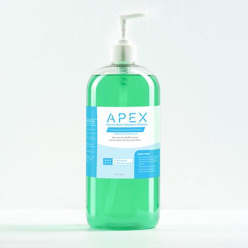 Apex Hand Sanitizer 70 Percent Alcohol  32 oz Pump Bottle