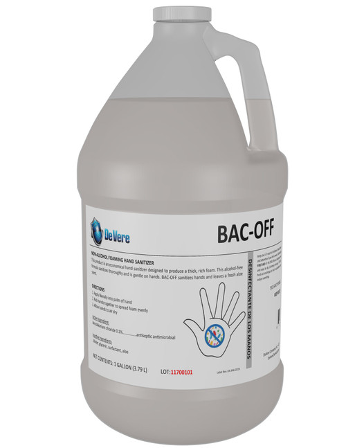 BAC-OFF Foaming Hand Sanitizer Alcohol Free with Aloe, Gallon