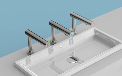 EcoTap Trio Deck Mount Foam Soap Dispenser