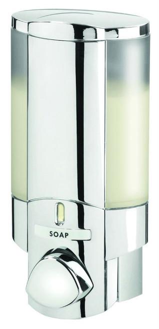Better Living 76140 AVIVA I Shower Soap Dispenser, Translucent Bottle, Chrome OPEN BOX