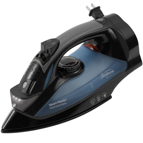 Sunbeam 4275-200 GreenSense SteamMaster Full Size Professional Iron with Retractable Cord and ClearView, Black OPEN BOX