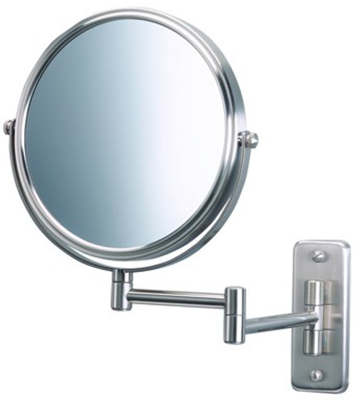 "Jerdon JP7506N 8"" 5x Wall Mount Mirror, Nickel Finish"
