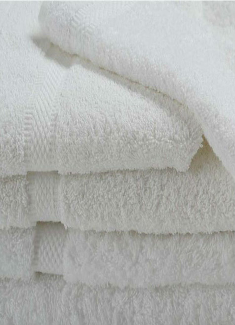 Oxford Imperiale Bath Towel 27x54, 17 lb., 100% Cotton, Dobby Border & Dobby Edge, White, 1 dozen