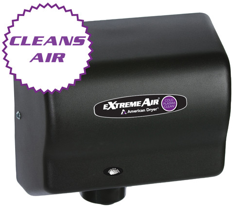 American Dryer ExtremeAir CPC9-BG Cold Plasma Clean Hand Dryer, Heated, Black Graphite