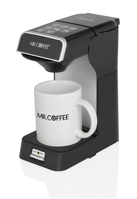 Mr. Coffee® CM2004-005 Commercial 1-Cup Pod Coffeemaker, Black and Silver