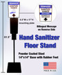 Hand Sanitizer Stand with Sign Holder and Sign, Black, Universal