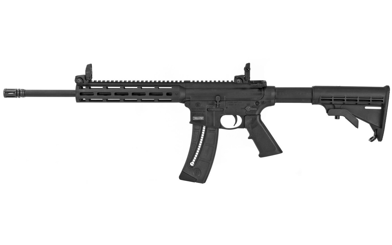 SMITH & WESSON M&P 15-22 22LR 16.5in 25rd Magpul Flip-Up Sights Slim Handguard Magpul M-LOK 6 Position Collapsible Stock Semi-Auto Rifle (10208)